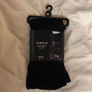 Black see-through sequenced legging